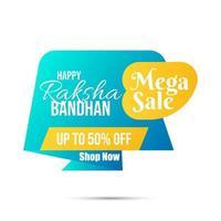 Sale Website Banner for Raksha Bandhan vector