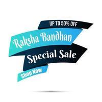 banner de venda de raksha bandhan feliz, desconto '' compre agora ''