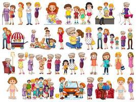 conjunto de caracteres de miembros de la familia vector