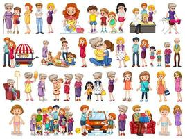 Family members character set vector