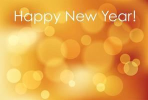 New Year's banner with bokeh light effect