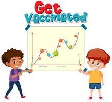 vacunarse con la ilustración del gráfico de la segunda ola