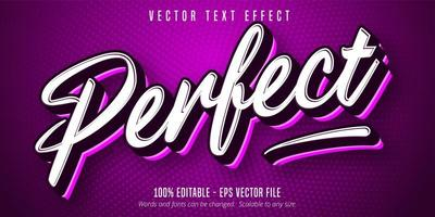 Perfect sport style editable text effect vector