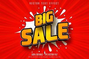 efecto de texto editable estilo de compras naranja gran venta vector