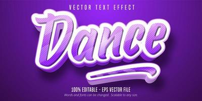 baile efecto de texto editable púrpura vector