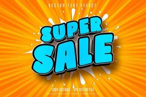 Super shopping style editable text effect vector