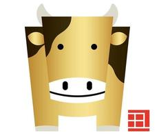Geometric bull for the year of the ox vector
