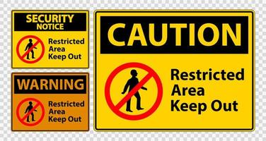 Restricted Area Keep Out Sign Set vector