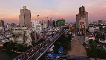 Silom and Sathorn, Bangkok by Drone