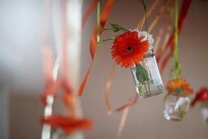 hanging decorations with flowers