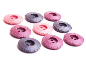botones rosas y morados foto