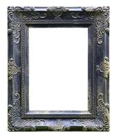black antique vintage  picture frames. Isolated on white backgro