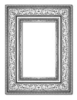 silver antique vintage  picture frames. Isolated on white backgr
