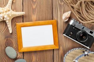 marco de fotos de viajes y vacaciones y artículos.