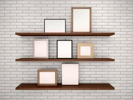 3d illustration of empty frames