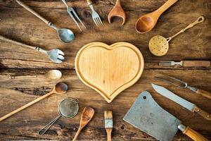utensilios de cocina vintage foto