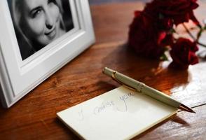 tiro romántico, concepto de amor foto