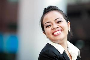 Young woman smiling photo