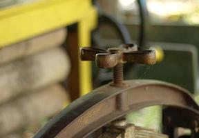 old farm machine photo