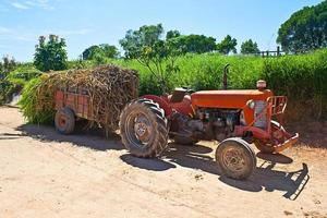 Farm tractor parked