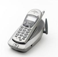 Nice wireless telephone isolated