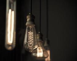 Hanged  decoration light bulbs photo