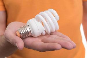 energy saving light bulb photo