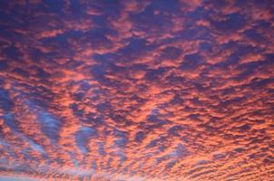 cielo altocúmulos