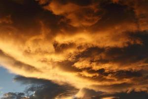 cielo y nubes foto