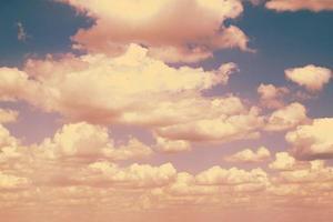 Blue sky. retro
