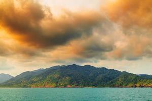 Sky above island