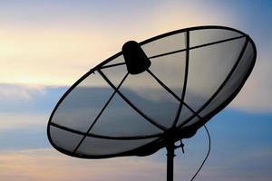 Fondo de antena parabólica. foto