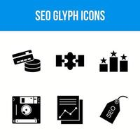 6 seo glyph icons