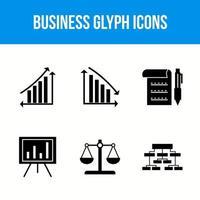 iconos de glifo de negocios vector