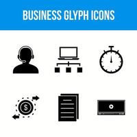 Business glyph icons