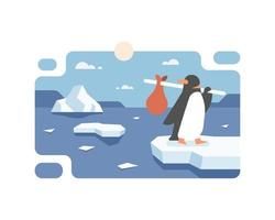 Penguin Migrating Due To Global Warming