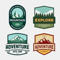 conjunto de insignias de aventura al aire libre