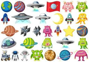 conjunto de objetos espaciales aislados