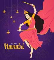Happy Navratri Festival Design vector