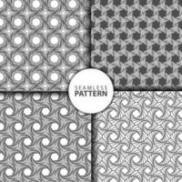 4 Collection of seamless pattern abstract backgrounds vector