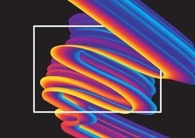 fondo abstracto con remolino de arco iris vector