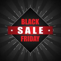 Black Friday sale poster with starbust