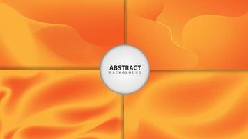Yellow abstract gradient flow set vector