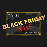 Black Friday social media banner vector