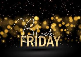 Black Friday background with glittery bokeh lights vector