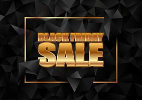 banner preto de venda sexta-feira com design low poly