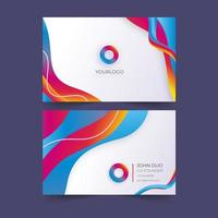 Abstract Flowing Gradient Multi-Color Business Card