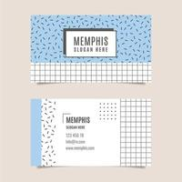 Original business card with lines and squares vector