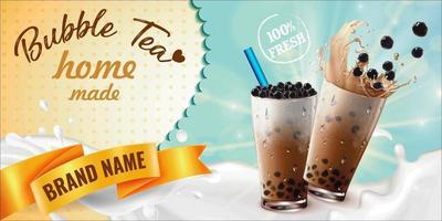 Home made bubble tea advertisement