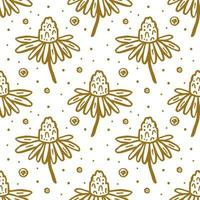Flower blossom seamless pattern